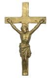 La croix de Jesus Christ a isolé sur le blanc Image stock