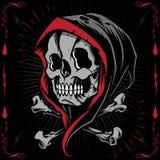 La croix de Reaper et d'os illustration de vecteur