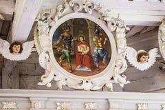 La croix et l'icône Photo stock