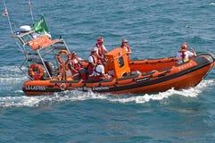 La Croix-Rouge espagnole couvrant une manifestation sportive Photos stock