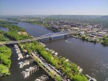 La Crosse is een Gemeenschap in Wisconsin op de Rivier van de Mississippi royalty-vrije stock foto