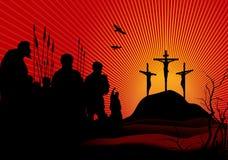 La crucifissione Immagine Stock