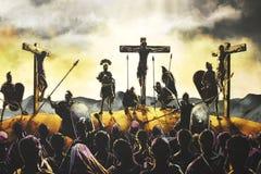 La crucifixión de Jesús imagen de archivo libre de regalías