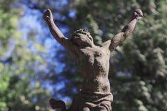 La crucifixión de Jesus Christ como símbolo de la fe del amor del ` s de dios Imagen de archivo libre de regalías