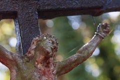 La crucifixión del fragmento de Jesus Christ de la estatua Fotos de archivo libres de regalías