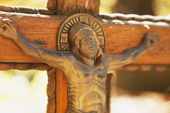 La crucifixión del Jesucristo Imagen de archivo libre de regalías