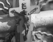 La crucifixión del Jesucristo Imagenes de archivo