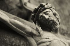 La crucifixión del Jesucristo Fotografía de archivo libre de regalías