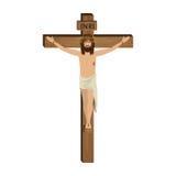 La crucifixión del Jesucristo ilustración del vector