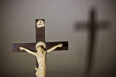 La crucifixion Images libres de droits