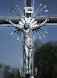 La crucifixion de Jesus Christ comme symbole de l'amour du ` s de Dieu Photographie stock libre de droits