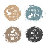 La crueldad libera insignias stock de ilustración