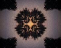 La cruz abstracta sacó ejemplo de la mandala 3D Fotografía de archivo