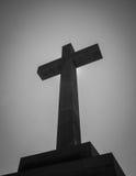 La cruz, blanco y negro foto de archivo