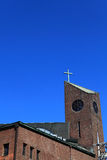 la cruz de la iglesia foto de archivo libre de regalías