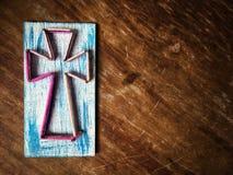 La cruz del hilado y de los clavos Fotos de archivo