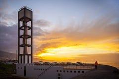 La Cruz Modern Lighthouse de Puerto de Fotos de archivo