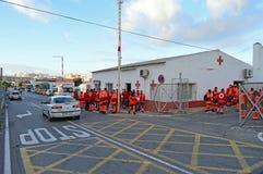 La Cruz Roja Fotos de archivo