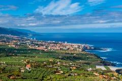 La Cruz Tenerife di Puerto de Fotografia Stock