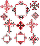 La cruz ucraniana borda ilustración del vector
