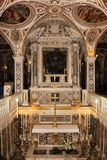 La crypte Cathédrale, Salerno l'Italie photo stock