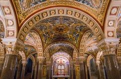 La crypte de Santa Cecilia dans l'église de Trastevere à Rome, Italie Image libre de droits