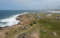 La côte chez Cabo Polonio Photographie stock