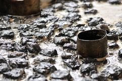 la cuajada de habichuelas preservada Fuerte-que olía/fermentó la cuajada de habichuelas con la cuajada del olor/de habichuelas co fotos de archivo libres de regalías