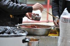 la cuajada de habichuelas preservada Fuerte-que olía/fermentó la cuajada de habichuelas con la cuajada del olor/de habichuelas co fotografía de archivo