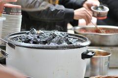 la cuajada de habichuelas preservada Fuerte-que olía/fermentó la cuajada de habichuelas con la cuajada del olor/de habichuelas co fotografía de archivo libre de regalías