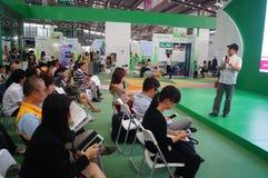 La cuarta sesión de la exposición del intercambio del proyecto de la caridad de China en el convenio de Shenzhen y el centro de e Fotografía de archivo libre de regalías