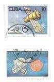 La Cuba - vecchi francobolli Immagini Stock