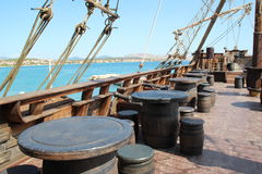 La cubierta de un barco pirata Fotografía de archivo libre de regalías