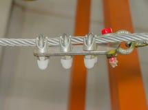 La cubierta del cable con el montaje Imagen de archivo libre de regalías