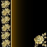 La cubierta del libro con oro se levantó Imagen de archivo
