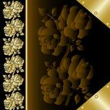 La cubierta del libro con oro se levantó 2 Fotos de archivo