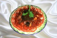 La cucina cinese, aglio ha fritto la tartaruga soft-shelled Fotografia Stock