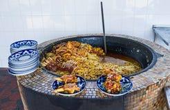 La cucina dell'Uzbeco Immagine Stock