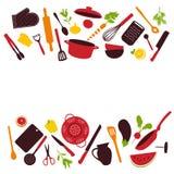 La cucina lavora la priorità bassa Immagine Stock