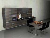 La cucina moderna fotografia stock