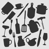 La cucina obietta l'illustrazione di vettore immagini stock