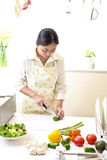 La cucina, pizza, fa Fotografia Stock Libera da Diritti