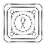La cuerda enmarca el cuadrado y redondo Imagen de archivo libre de regalías