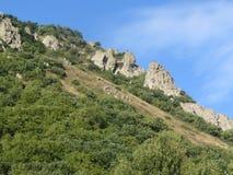 La cuesta de la montaña Beshtau Fotografía de archivo