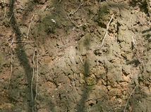 La cuesta del barranco de la arcilla Foto de archivo