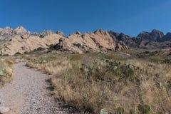 La Cueva岩石在新墨西哥 库存照片
