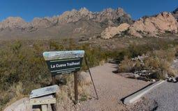 La Cueva路径源头在西南新墨西哥 免版税库存图片