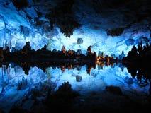 La cueva de lámina de la flauta, Guilin, China Imagenes de archivo