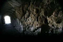 La cueva en el monumento nacional del pen¢asco de Scotts Fotos de archivo
