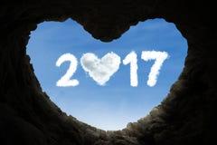 La cueva y numera 2017 por completo de amor Imágenes de archivo libres de regalías
